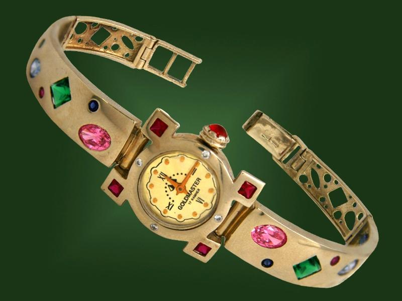 Золотые часы с браслетом Ч-003