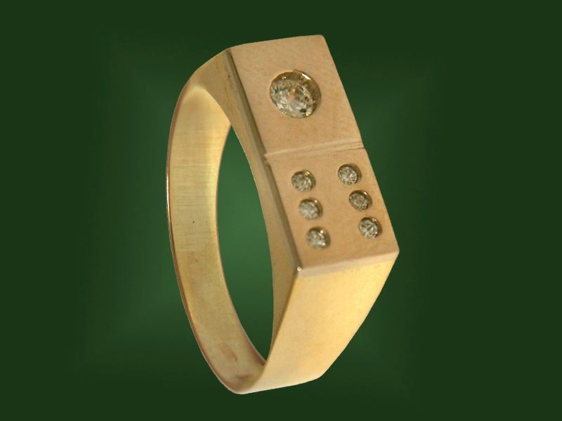 Золотая печатка К-108