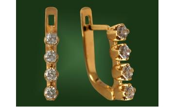 Золотые серьги С-079