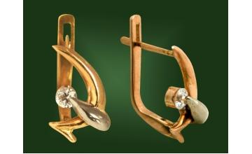 Золотые серьги С-024