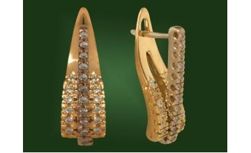 Золотые серьги С-038