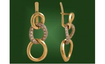 Золотые серьги С-139