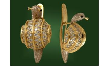 Золотые серьги С-041