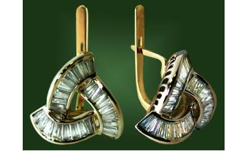 Золотые серьги С-068