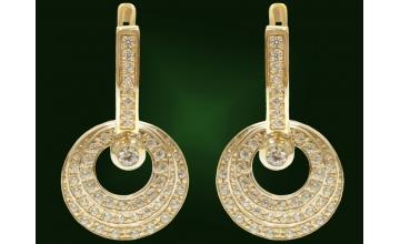 Золотые серьги С-018-1