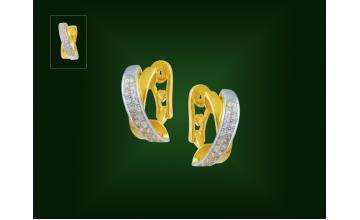 Золотые серьги С-253
