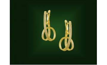 Золотые серьги С-308