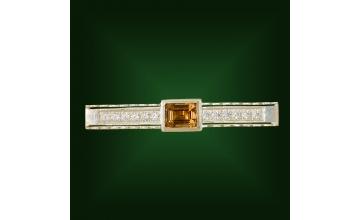 Золотой зажим З-015