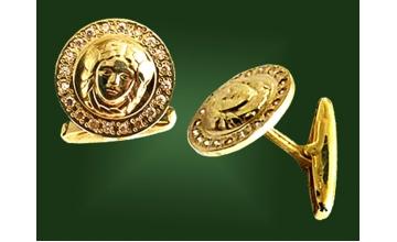 Золотые запонки ЗП-002-1