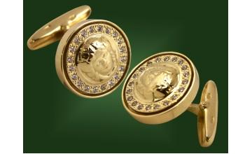 Золотые запонки ЗП-002