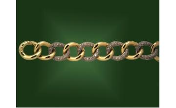 Золотой браслет БР-139