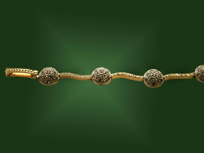 Золотой браслет БР-037