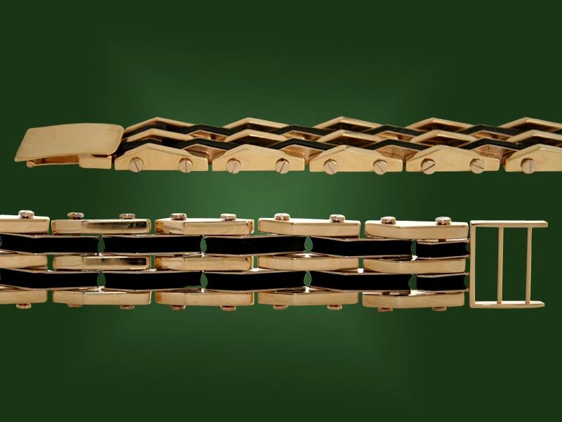 Золотой браслет БР-071
