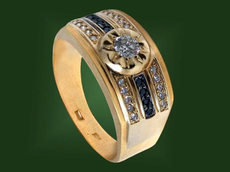 Золотая печатка К-022