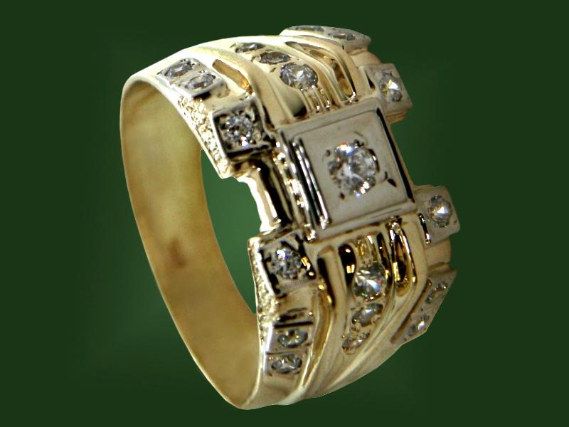 Золотая печатка К-084