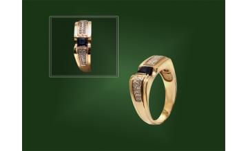Золотая печатка К-165-2