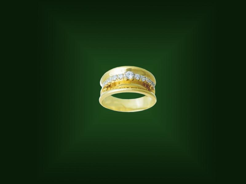 Золотое кольцо К-244