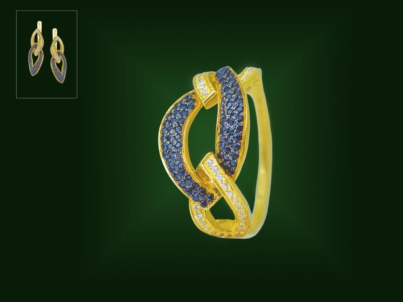 Золотое кольцо К-248