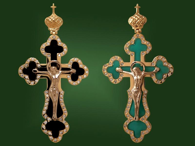 Золотой крест П-013-1-2