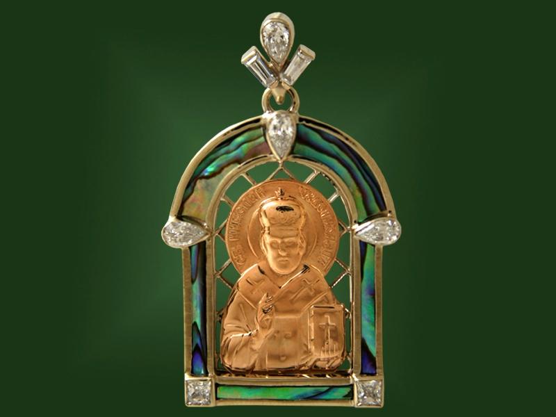 Золотая икона П-021-1