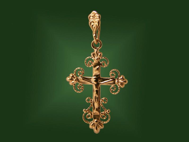 Золотой крест П-033