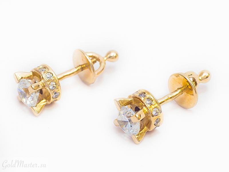 Золотые серьги С-005