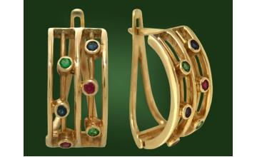 Золотые серьги С-010