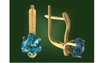 Золотые серьги С-016