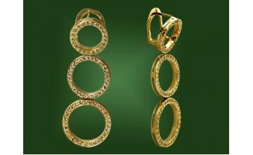 Золотые серьги С-018