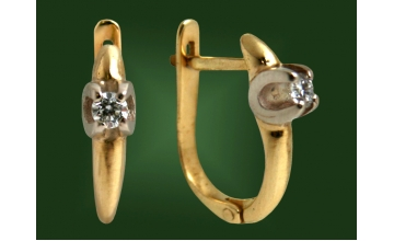 Золотые серьги С-025
