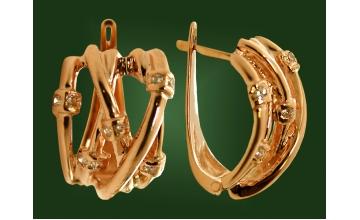 Золотые серьги С-044