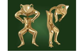 Золотые серьги С-045