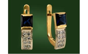 Золотые серьги С-084