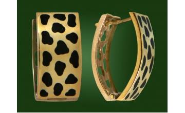 Золотые серьги С-086