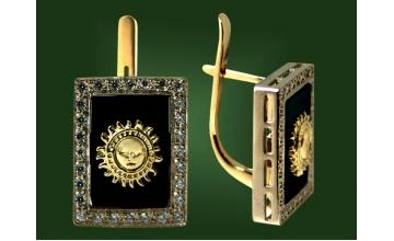 Золотые серьги С-092