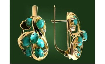 Золотые серьги С-097-1