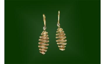 Золотые серьги С-105
