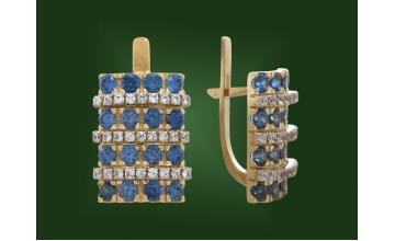 Золотые серьги С-147