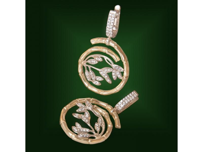 Золотые серьги С-185