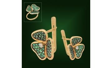 Золотые серьги С-206-2
