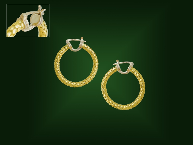Золотые серьги С-207
