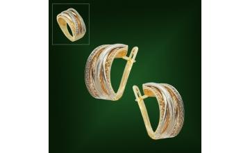 Золотые серьги С-221
