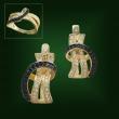 Золотые серьги С-227-1
