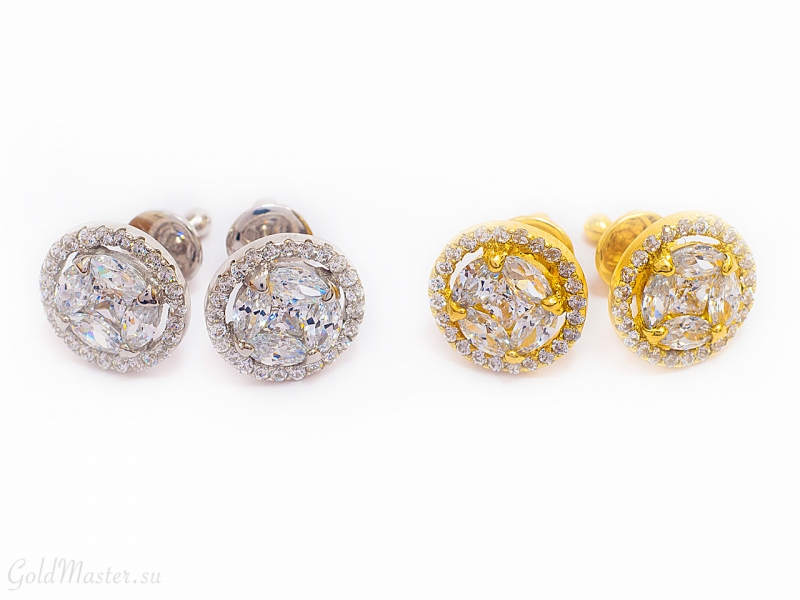Золотые серьги С-060-1