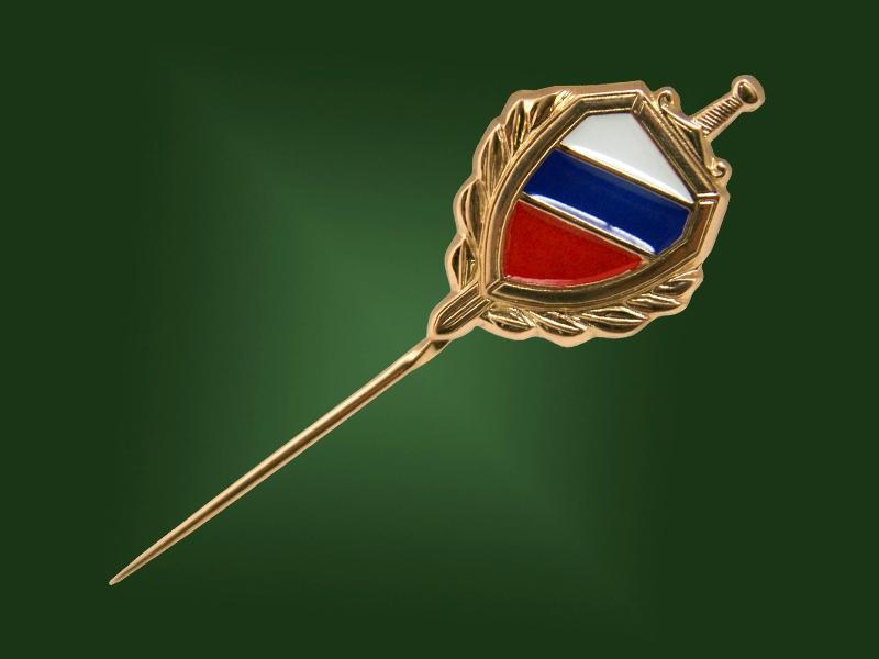 Золотой зажим МВД З-008