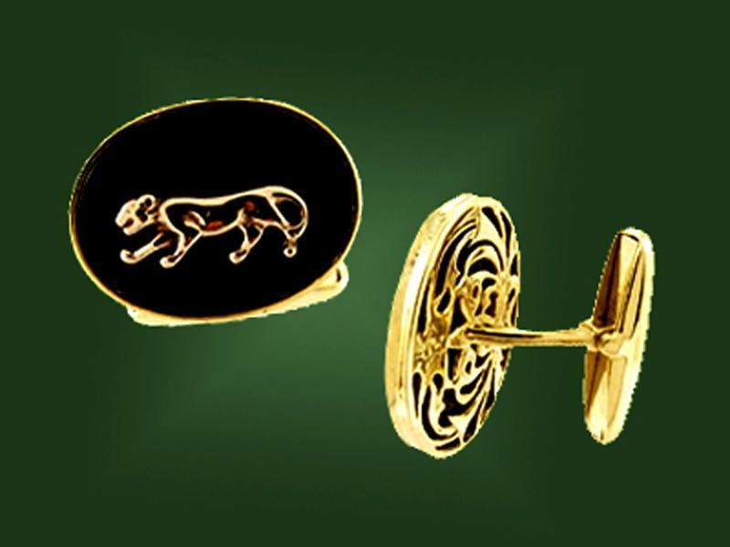 Золотые запонки ЗП-001