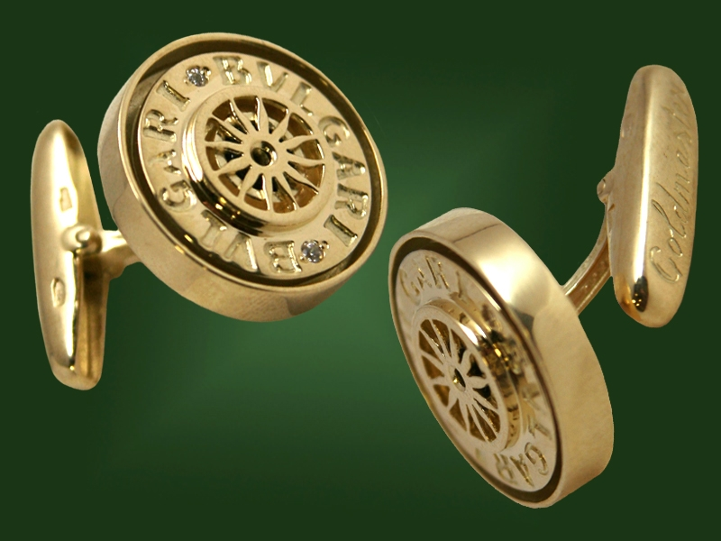 Золотые запонки ЗП-003